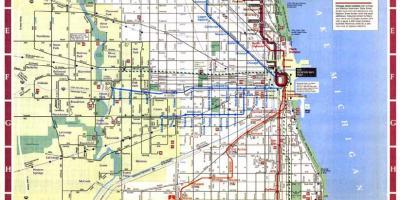 Chicago mapa Mapas de Chicago Estados unidos de Amrica